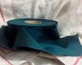 large dupioni dark forest green silk ribbon