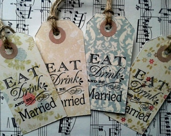 12 Shabby chic Eat, drink and be married tags