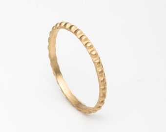 Thin wedding band ,wedding stacking ring band in 14K yellow solid gold,dainty gold ring,skinny ring ,recycled gold,size 4 5 6 7 8