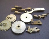 Vintage Antique Brass Pocket Watch Parts Steampunk Supplies