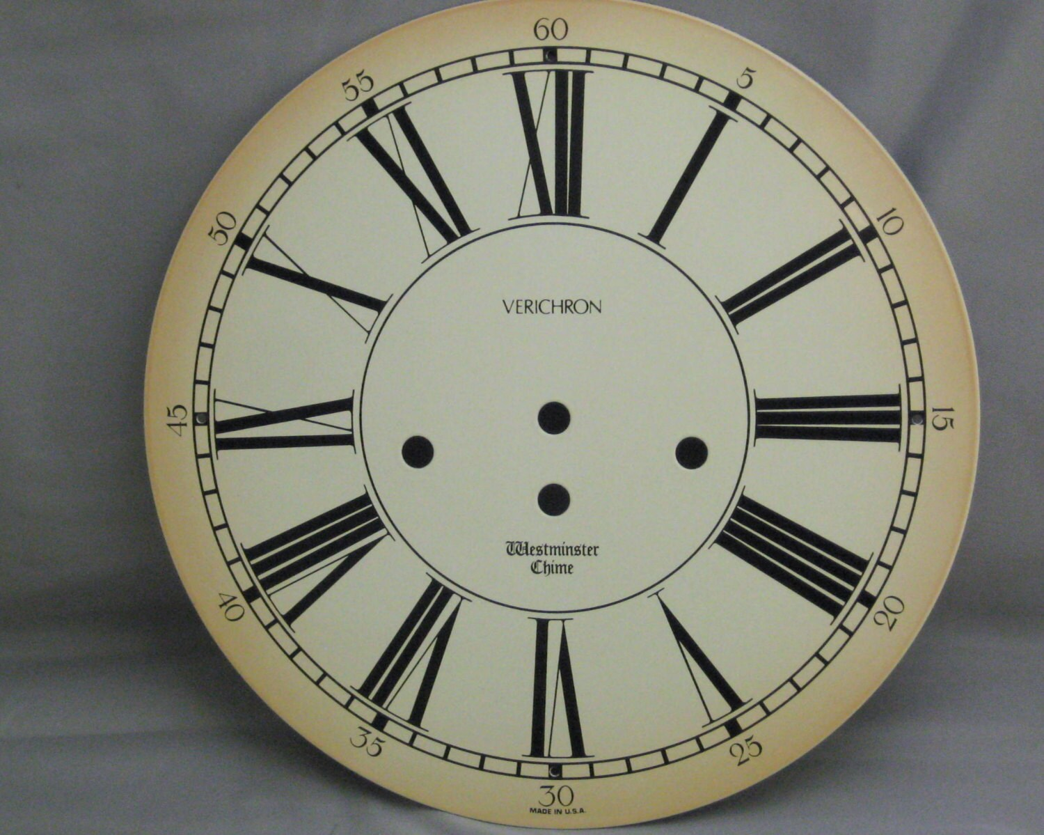 Vintage Style Wall Clock Face Large Westminster Enamel