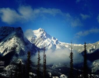 "Fine Art Photo - Title: ""Two"" - billi j miller photography - Jasper, Alberta, mountains, canadiana, snow, canada, winter"