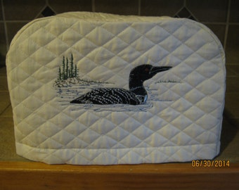 Toaster Cover 2 or 4 slice COMMON LOON DESIGN