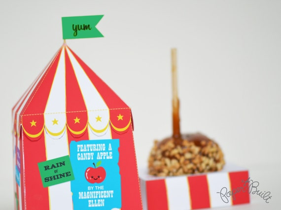 Il_570xn & INSTANT DOWNLOAD - Printable Circus Tent Candy Apple/ Caramel ...