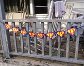 Superman inspired banner, Superhero party, Superman party, Customized