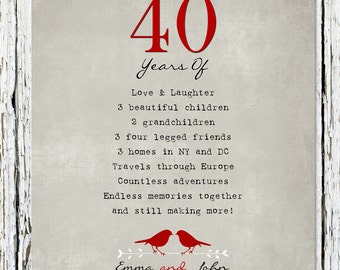 40 Wedding Anniversary Gift For Husband : 40th Anniversary Poems Quotes. QuotesGram