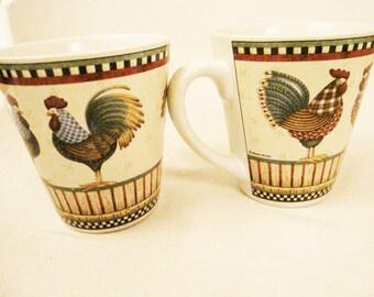 Debbie Mumm Rooster Mug(s) Excellent condition!