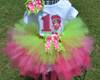 Strawberry Shortcake Custom Tutu Set.  You can change colors to match your theme.  3m & up