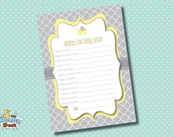 Cute Elephant Wishes for Baby Cards- Printable DIY