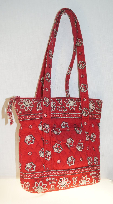 Vera Bradley Red Quilted Shoulder Bag Purse