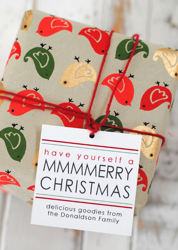 Items similar to merry christmas baking gift tags for Homemade baked goods for christmas gifts
