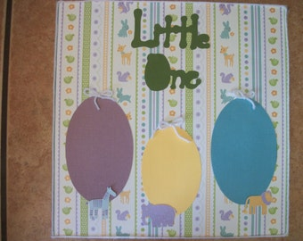 Our Little One Yarn and Animal Scrapbook premade page 12 x 12
