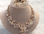 Going Out Of Business Sacrifice for 100 Juliana D and E Cha Cha Crystal Necklace Demi (VN62)