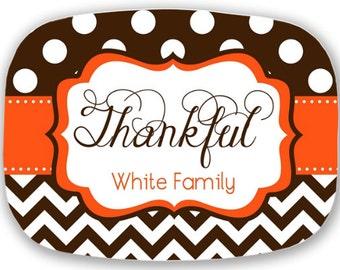 personalized melamine platter - thanksgiving