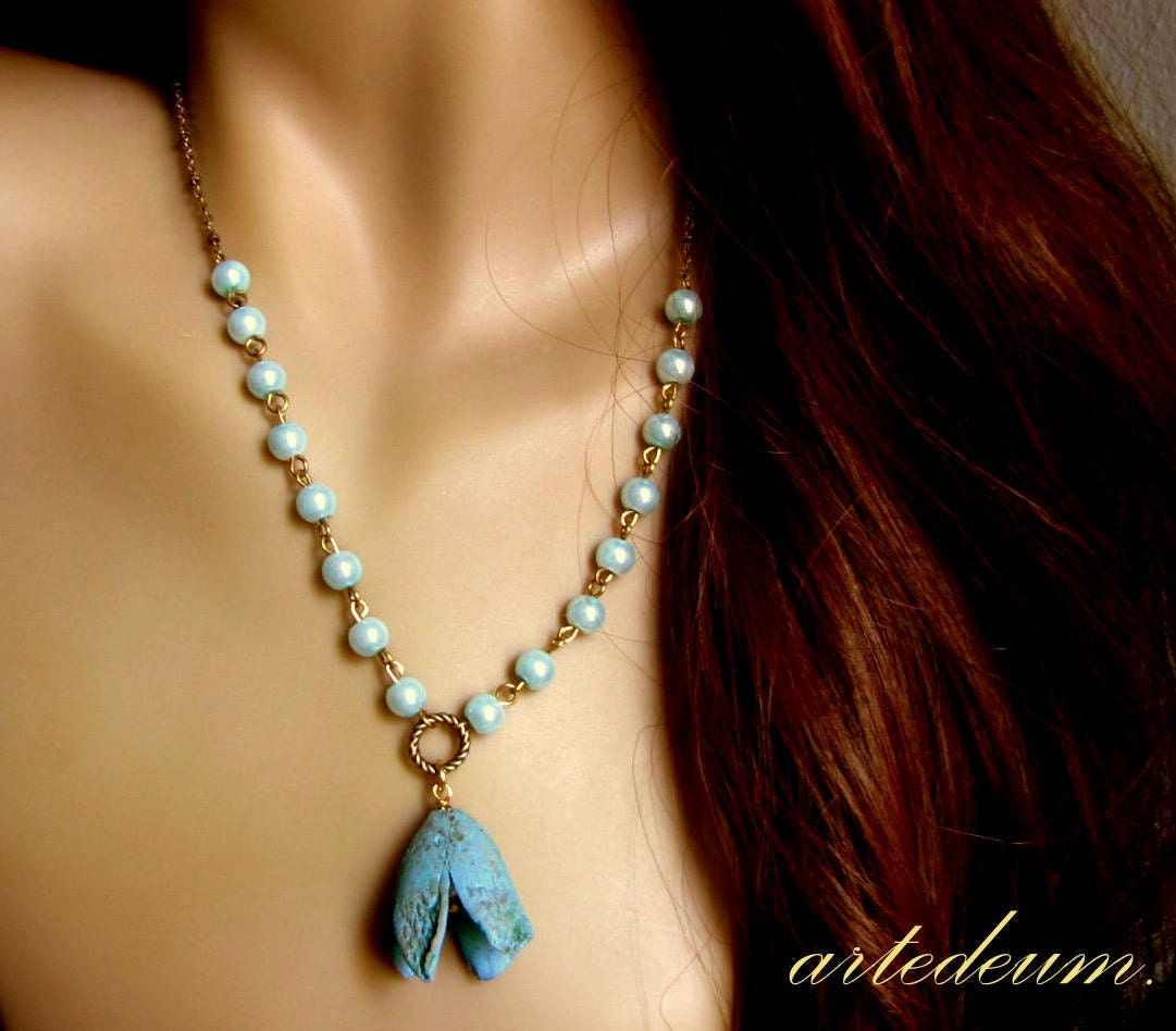 Real flower necklace natural seed jewelry seed by for Natural seeds for jewelry making