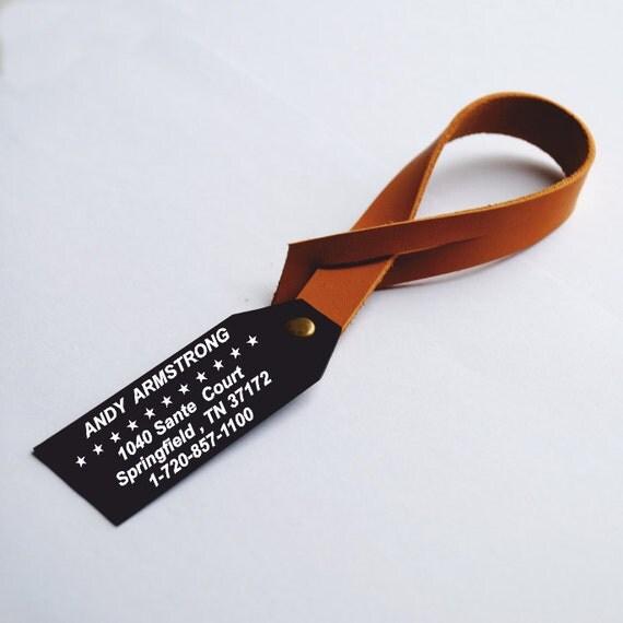 Étiquette à bagage en métal personnalisée, plaque de métal, étiquettes à bagages en cuir personnalisé avec les coordonnées géographiques Latitude Longitude