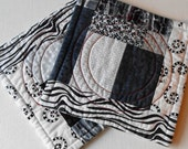 Handmade Cotton Black & White Mug Mats