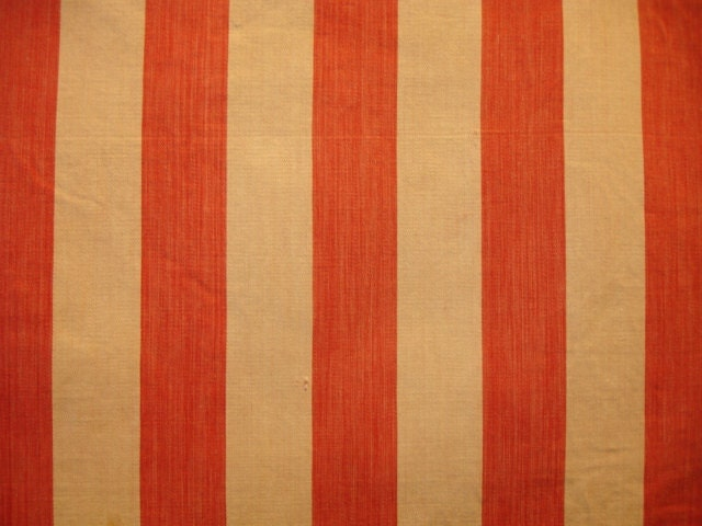 Vintage 1920 S French Ticking Upholstery Fabric Soft Two