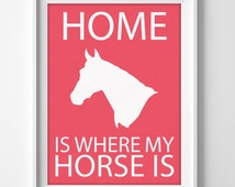 8x10 Horse Wall Art, Horse Illustration Art, Horse Owner Gift, Horse Themed Print, 8x10 Horse Print, Horse Lover Gift, Pony Wall Art, Horsey