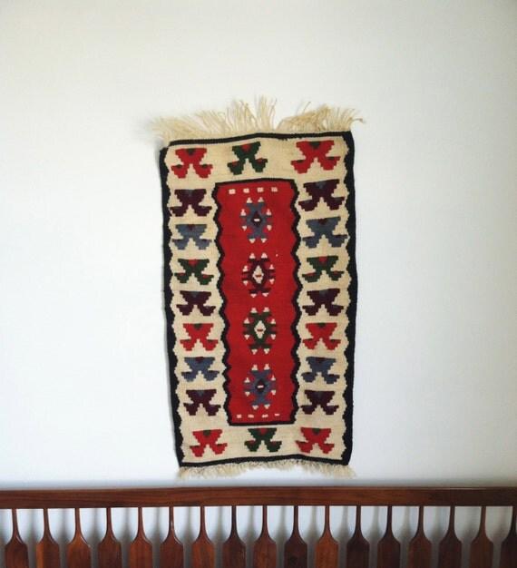 Vintage southwestern wall tapestry kilim print navajo wall - Ways decorating using kilim print ...