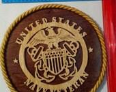 US NAVY VETERAN plaque