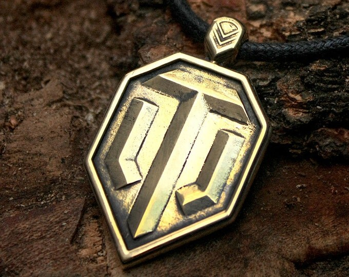 WOT World of Tanks Icon Game Brass Pendant Necklace