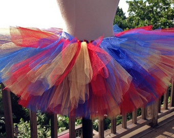 Adult Tutu - Blue, Red and Yellow