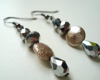 Beautiful crystal and glass earrings