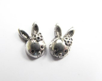 Small Bunny Stud Earrings, Easter Jewelry, Cute Silver Rabbit Jewelry, Everyday Earring for Her