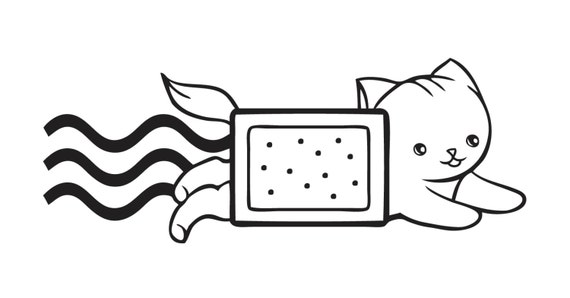 Poptart or Taco Nyan Cat Decal