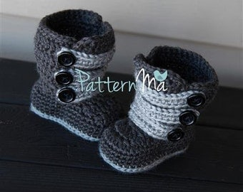 Crochet Pattern Strappy Baby Boots #1