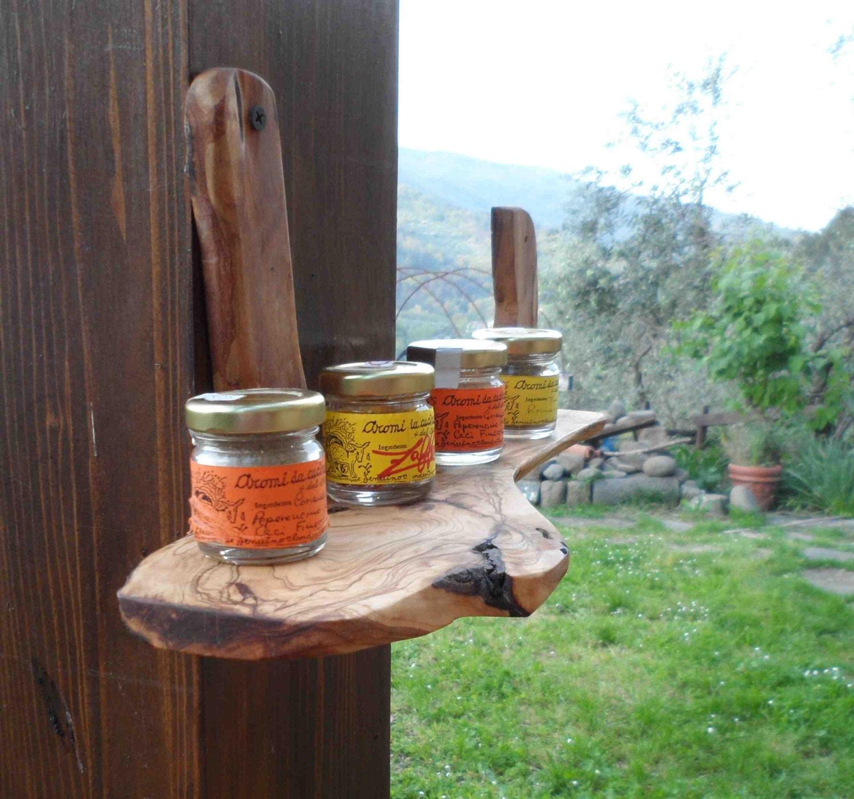 Mensola naturale mensole di legno legno ulivo arte povera for Mensole legno naturale