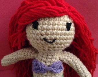 Ariel from The Little Mermaid Crochet Doll