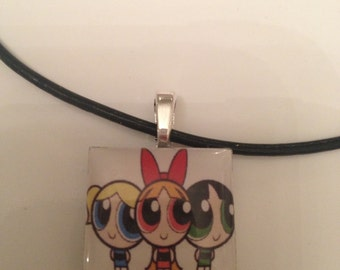 Power Puff Girls  inspired necklace