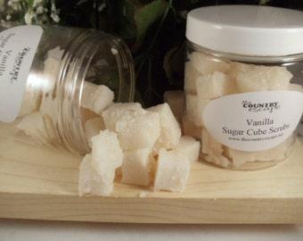 Vanilla Sugar Cube Scrubs- with Jojoba Oil- Gentle Exfoliation