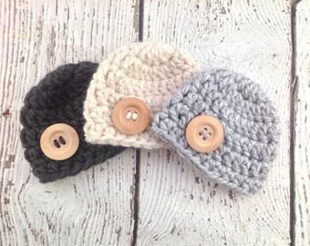Baby Boy Hat, Newborn Boy Hat, Chunky Baby Boy Hat, Chunky Baby Girl Hat, Crochet Baby Hat, Photo Prop, Crochet Beanie, Baby Hat