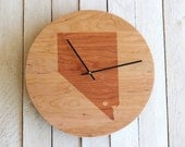 Custom Personalized Wood Wall Clock - City State or Country Striped Design