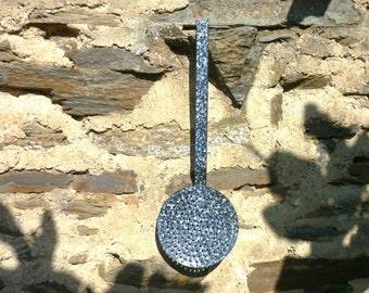 french speckled enamel server/strainer skimmer