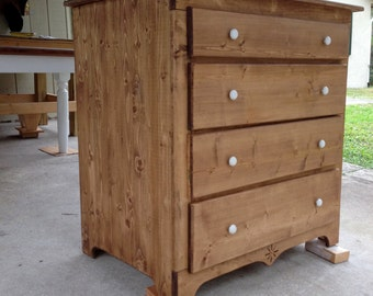 Knotty Pine Dresser