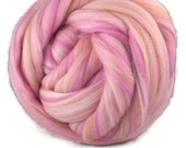Superfine merino wool roving 19 microns 4 oz,color blend (Mademoiselle)