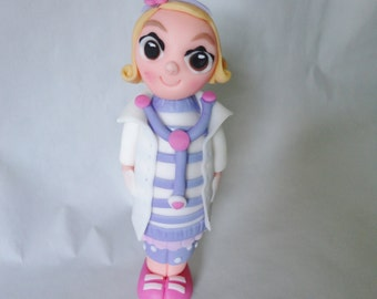 YOUR CHILD Dressed as Doc McStuffins Edible Fondant 3D Cake Topper Decoration