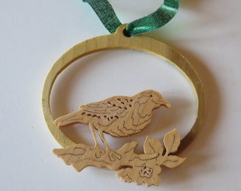 Western Meadowlark Songbird Fretwork Ornament