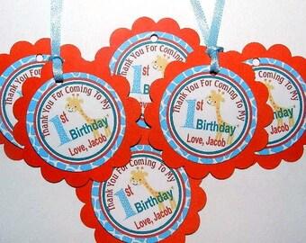Safari Birthday - safari Birthday Favor Tags- Safari Birthday Party