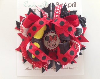 Mickey Mouse Signature Layered Bottlecap Bow READY TO SHIP
