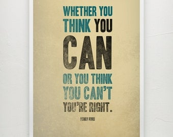 Henry Ford best quote - Motivational print