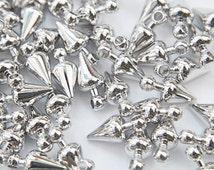 Pendulum charm, S44-R1, 30 pcs, 11x5mm, Original rhodium plated brass, Jewelry making, Jewelry component, Not easily tarnish, PM45-02