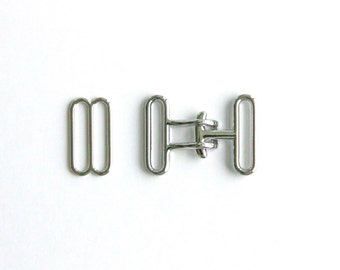 50 sets of cinch buckle and slide set (silver finish)