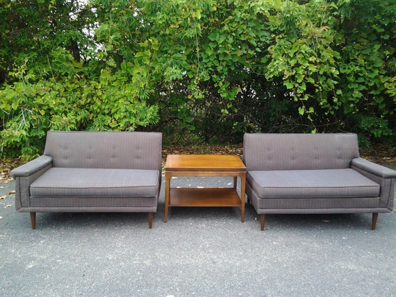 A sweet very rare pair of vintage mid century modern by