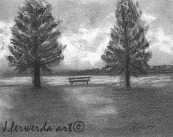 Pencil Drawing Print - Life Is Between Everything - Day 248