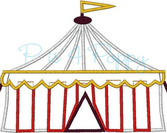 circus tent applique design instant download